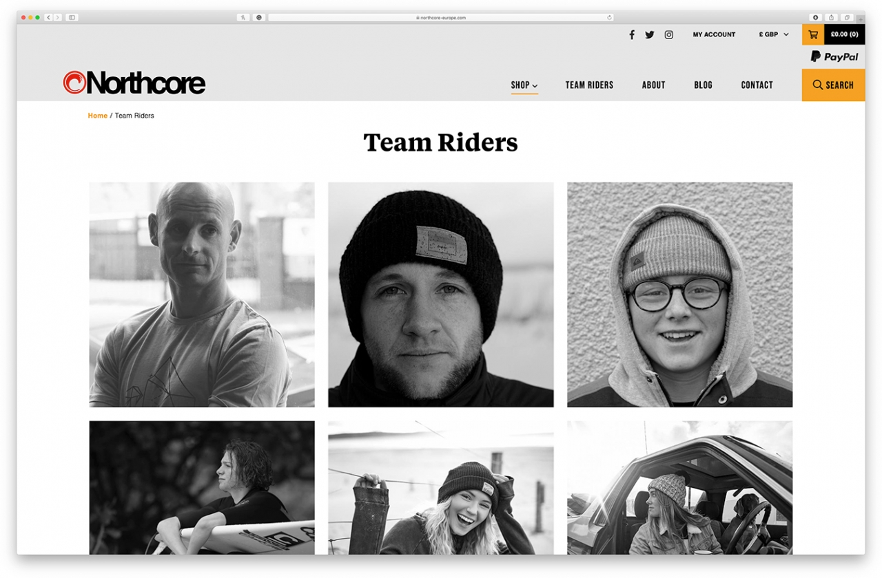 Northcore team riders page