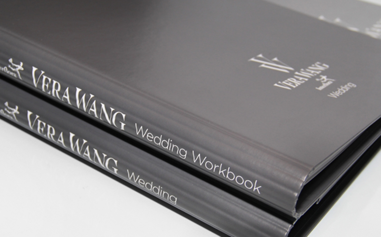 Vera Wang wedding workbook design