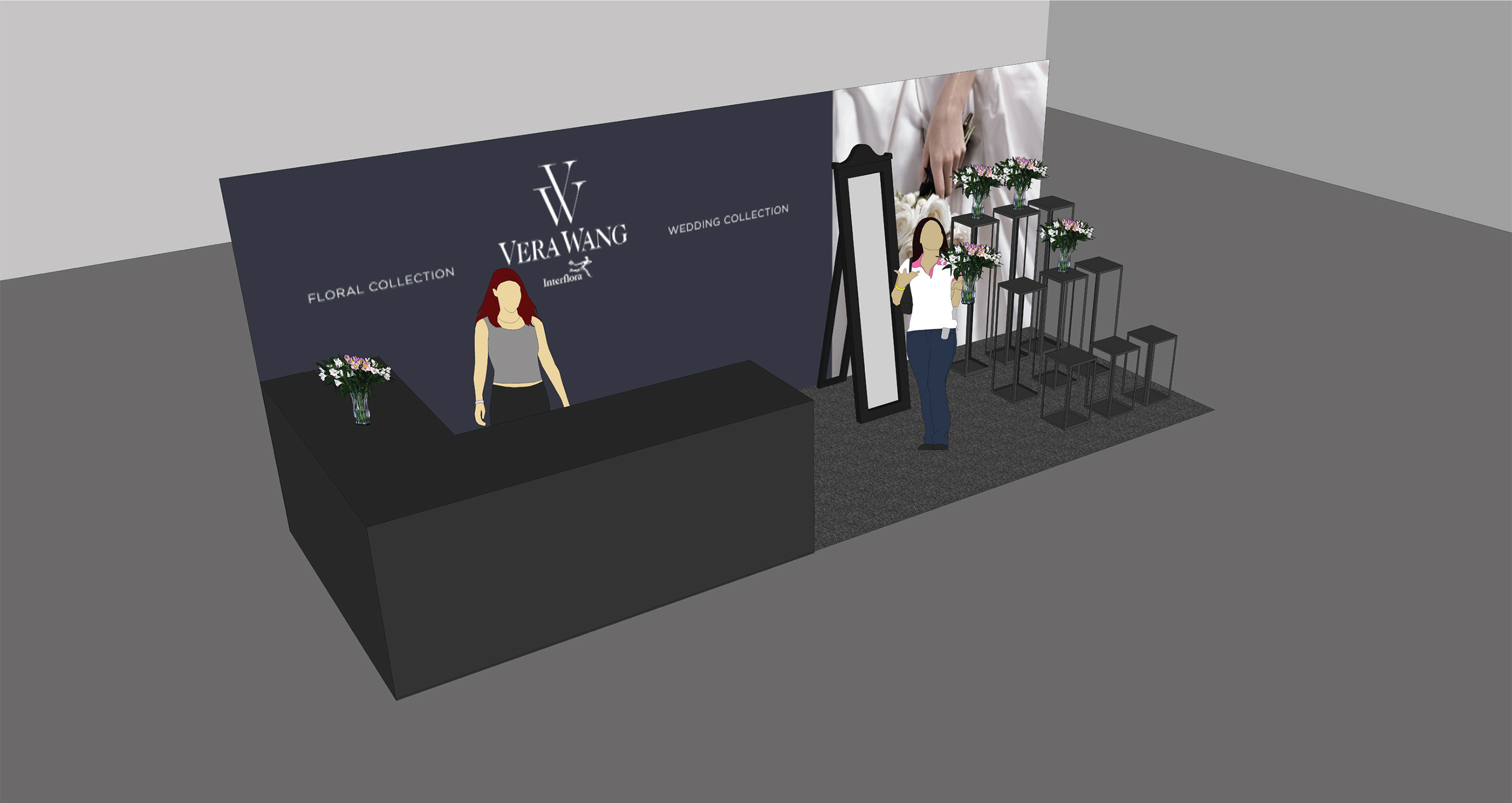Vera Wang exhibition stand design