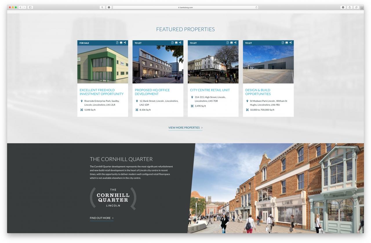 Banks Long & Co website homepage