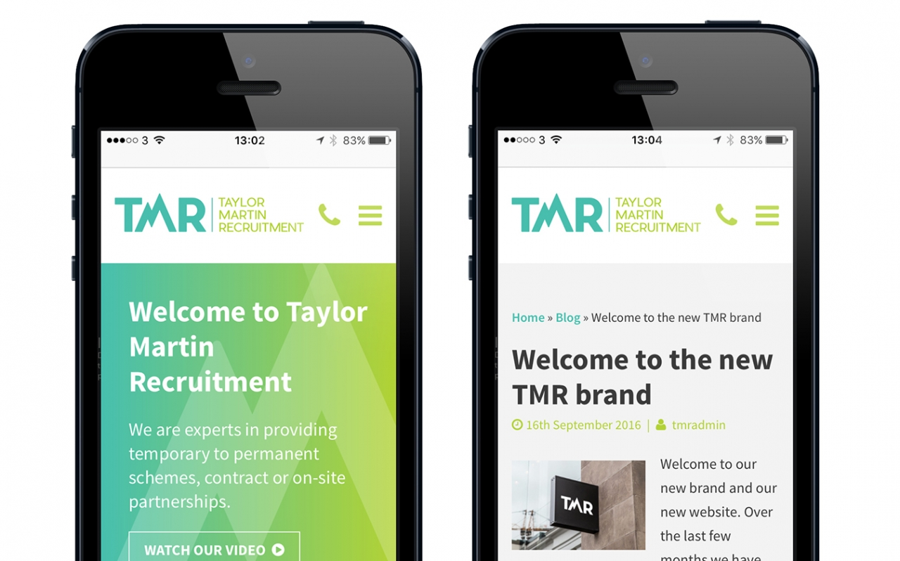 TMR mobile responsive website design