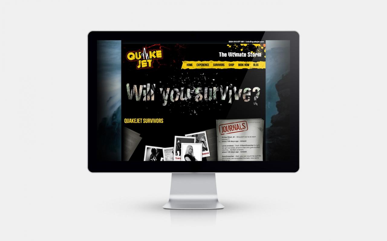Quakejet website design