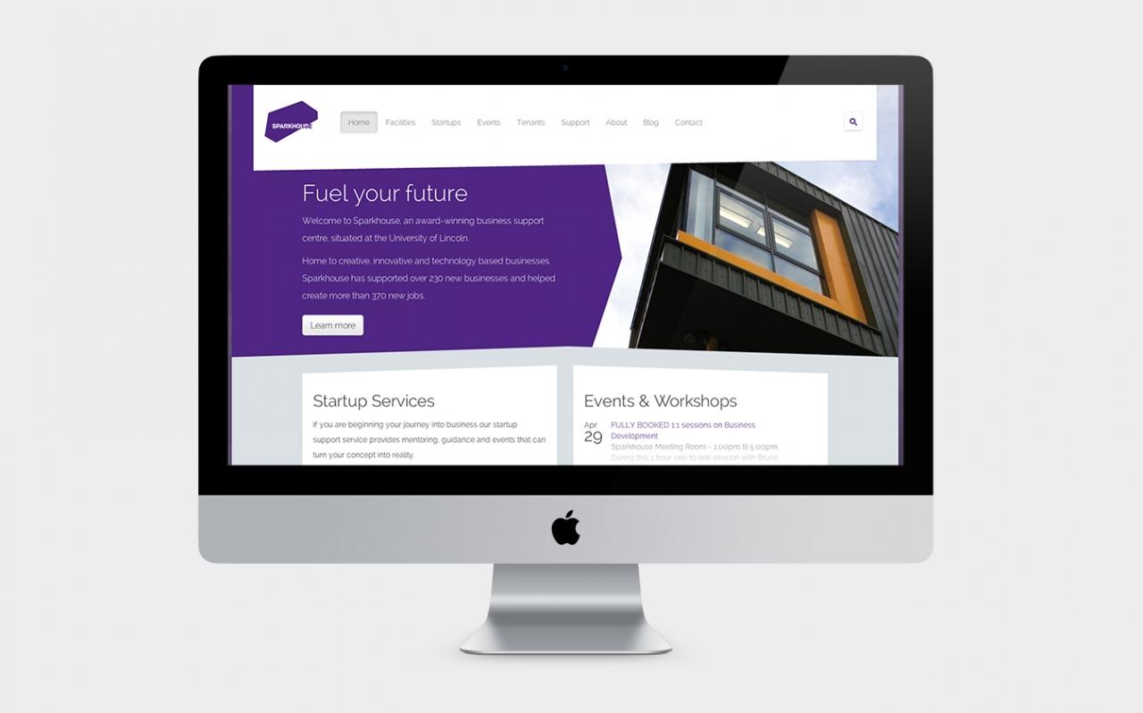 Sparkhouse website design