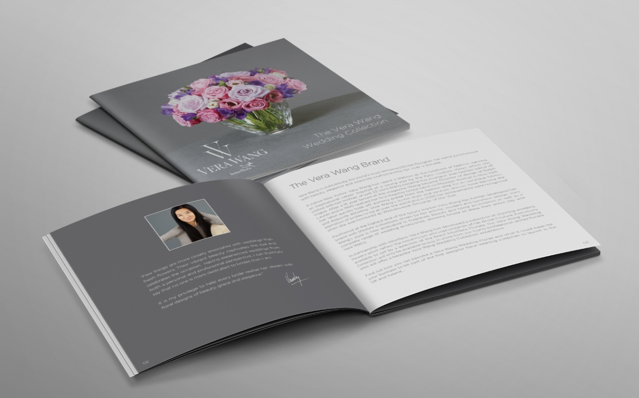 Vera Wang invitation brochure design