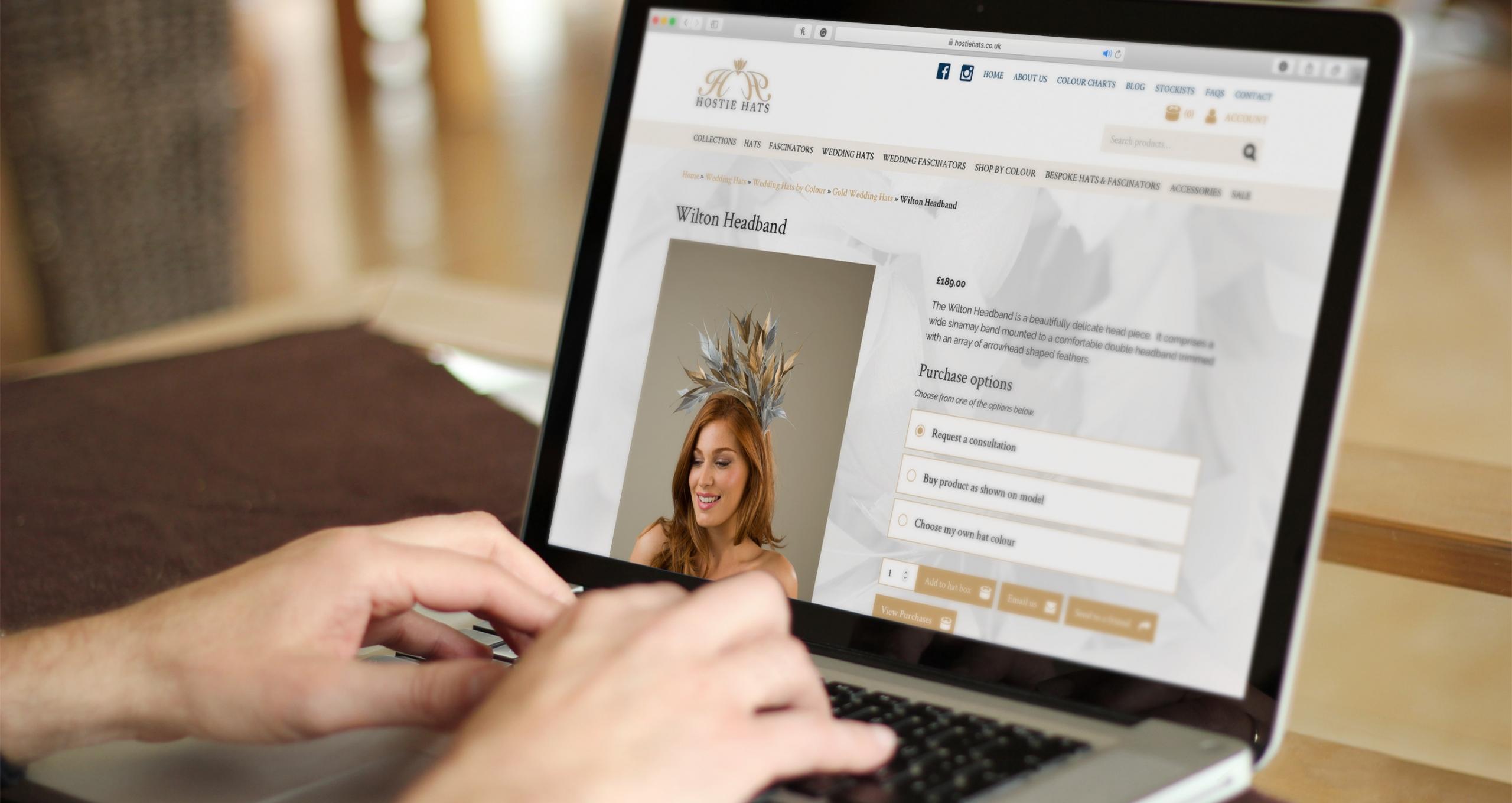 WooCommerce website design and development - Hostie Hats